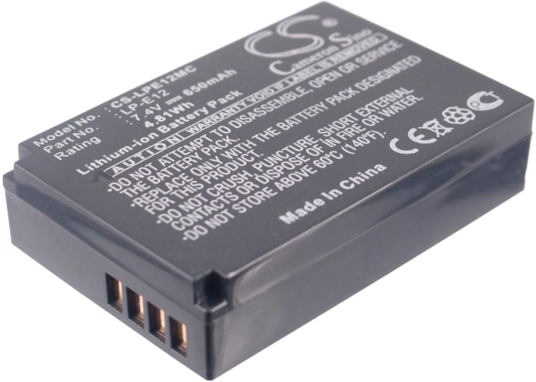 CANON LP-E12 LPE12 EOS 100D Compatible Battery image 0