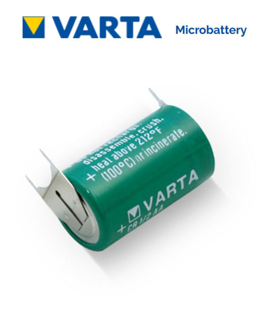 VARTA CR1/2AA Lithium Battery with 3-Pin D+10mm image 0