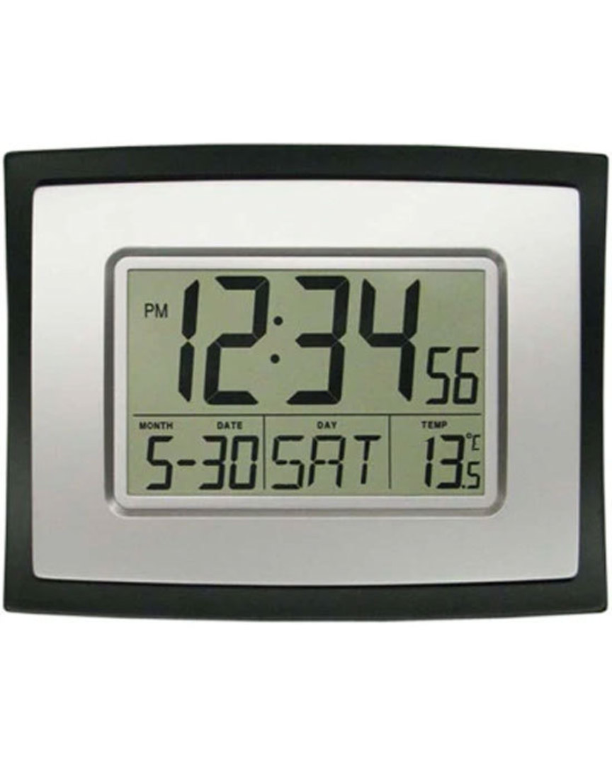 WT-8002U La Crosse Wall Clock with Indoor Temperature image 0