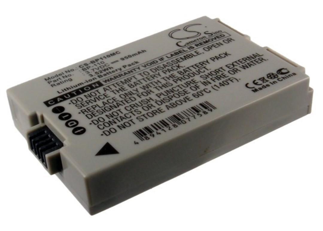 CANON BP110 Legria HF R27 Camera Battery image 0