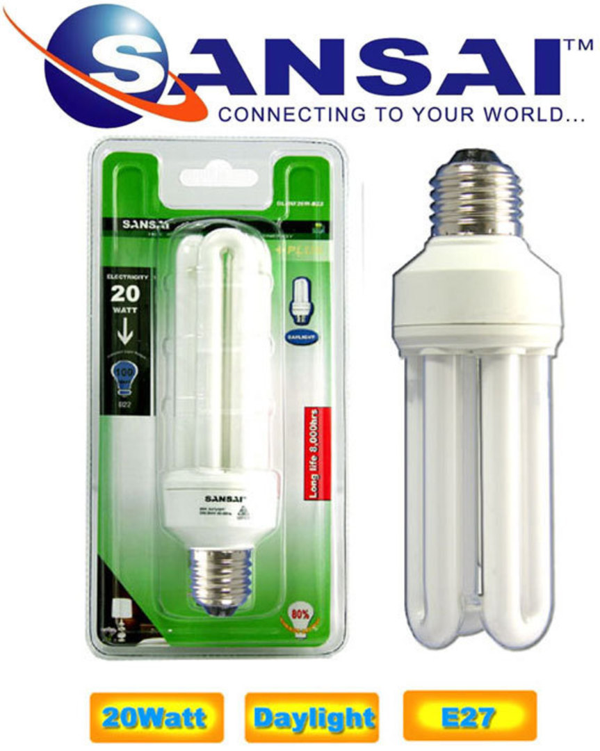 SANSAI 20W Daylight Energy Saving Bulbs image 0