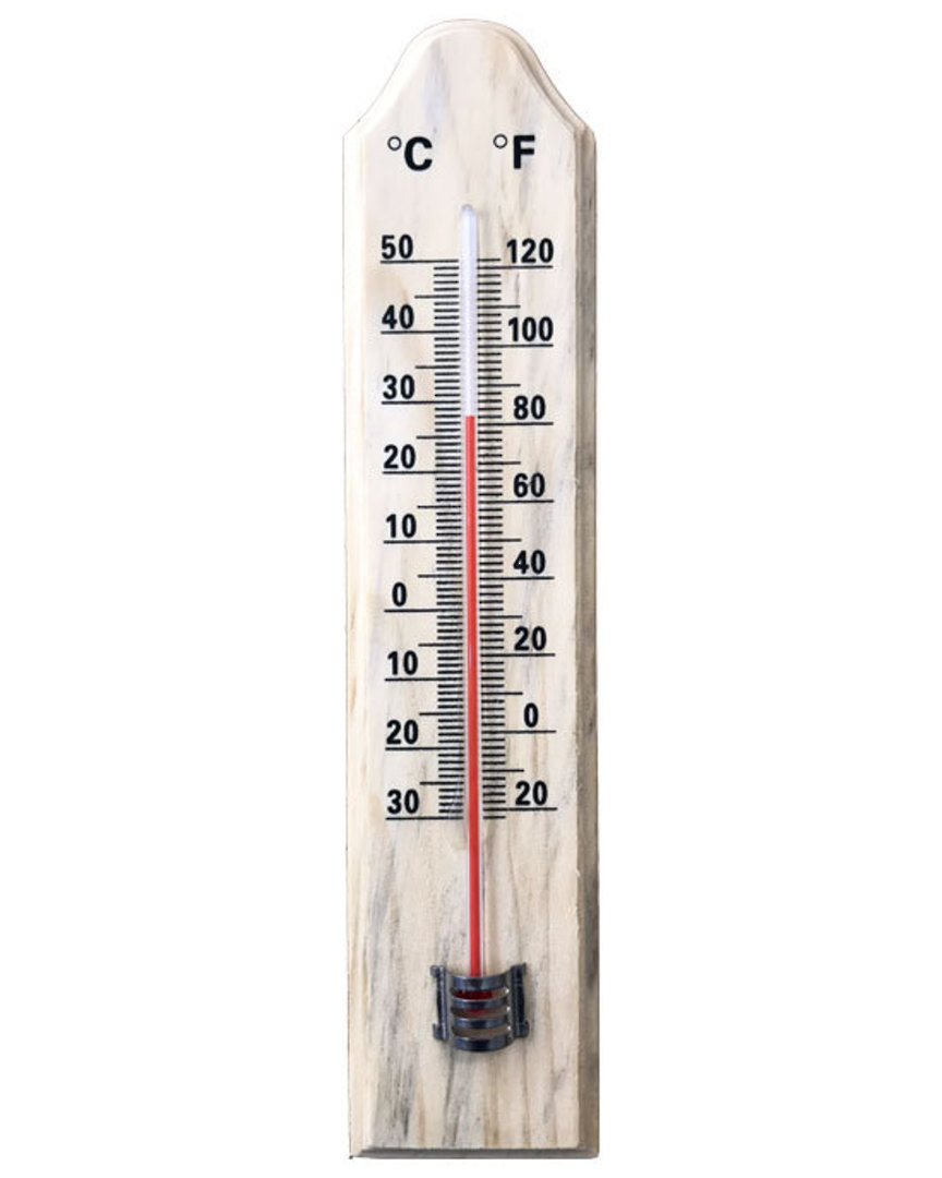 FELDSPAR Wooden Wall Glass Thermometer image 0