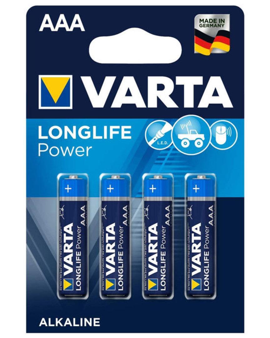 VARTA AAA Size Alkaline Battery 4 Pack image 0