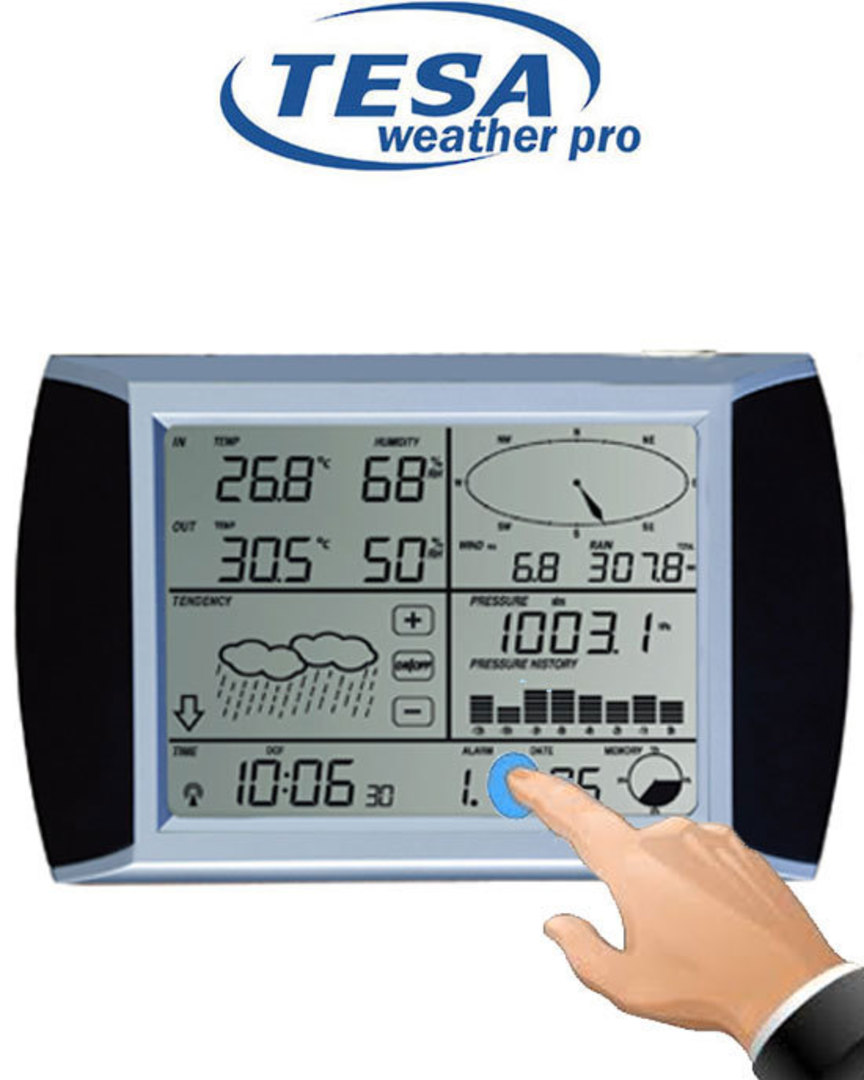 WS1081 Ver3 TESA Touch Screen Weather Center with PC interface image 3