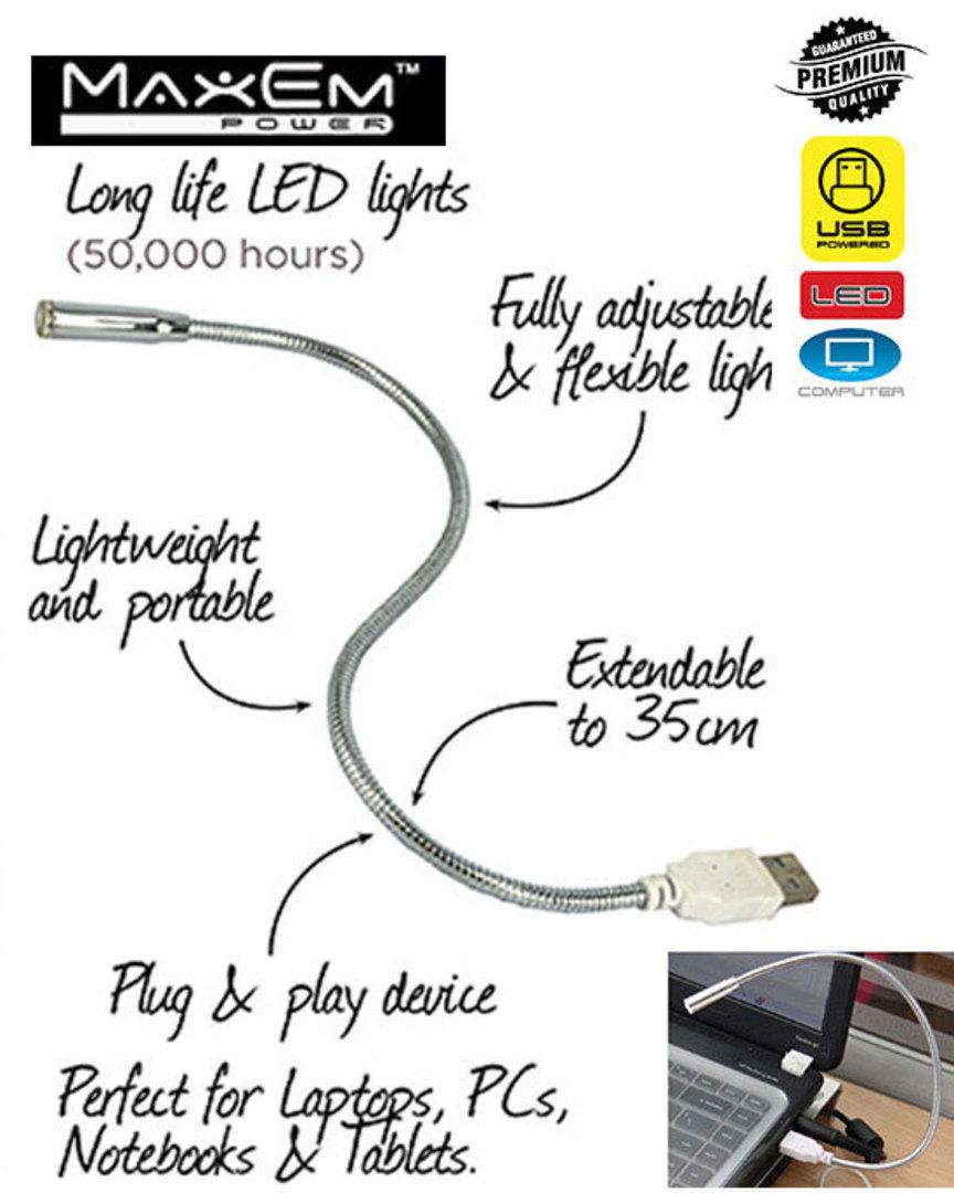 MAXEM USB Portable Flexi LED Light 4PCS image 0