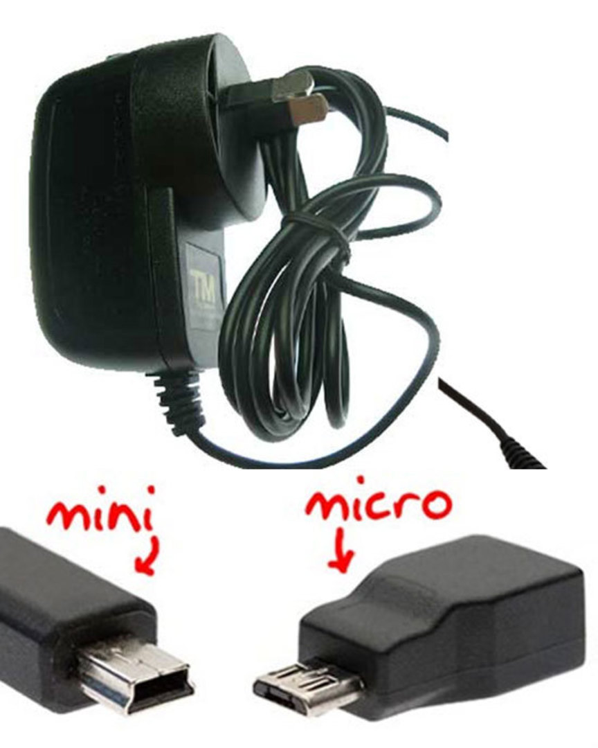 microUSB Wall Charger for Nokia, Motorola, Samsung and microUSB devices image 0