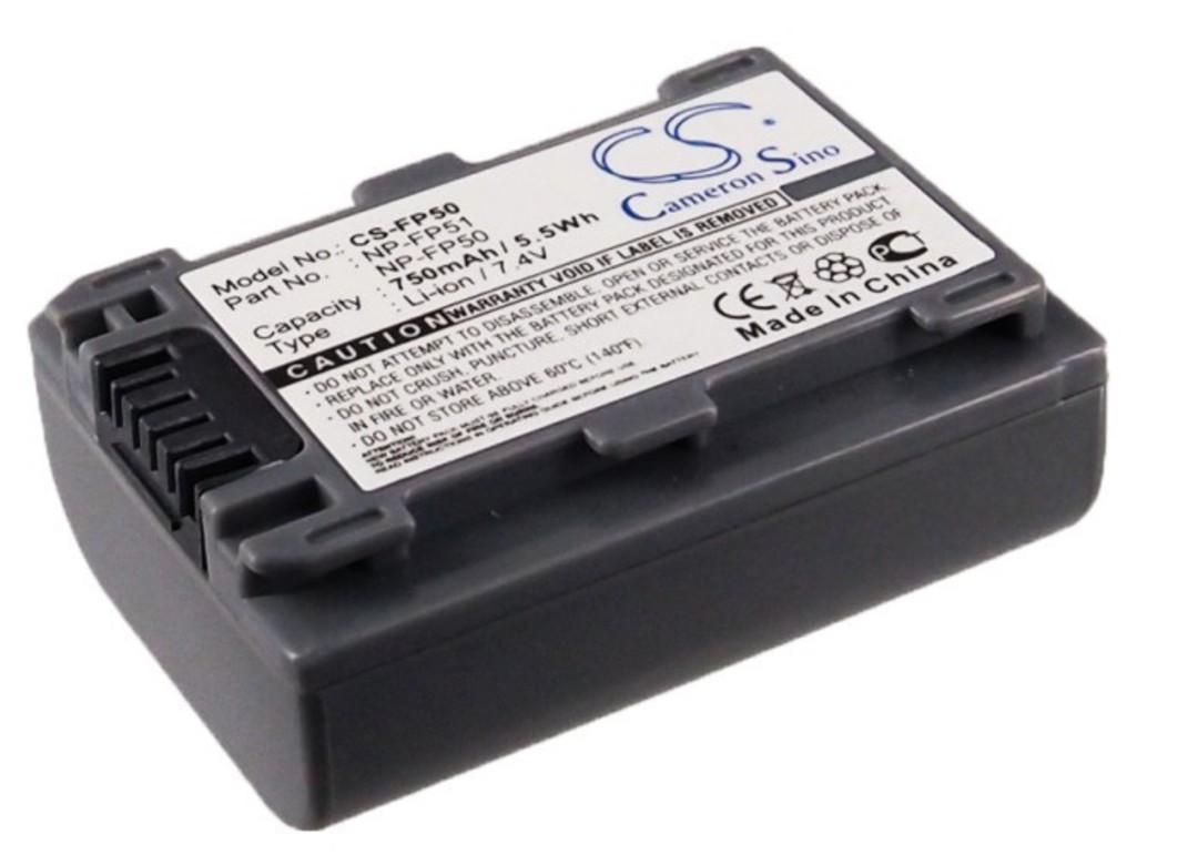 SONY NP-FP30 NP-FP50 NP-FP51 Camera Battery image 1