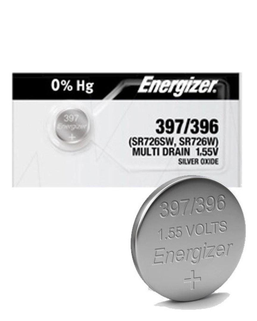 ENERGIZER 396 397 SR726W SR726SW SR59 Watch Battery image 0