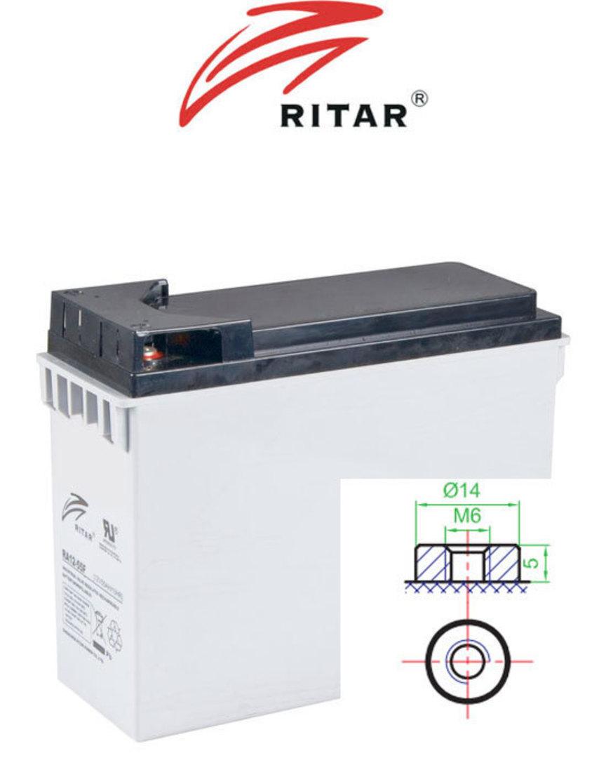 RITAR RA12-55F 12V 55Ah Front Terminal SLA Battery image 0