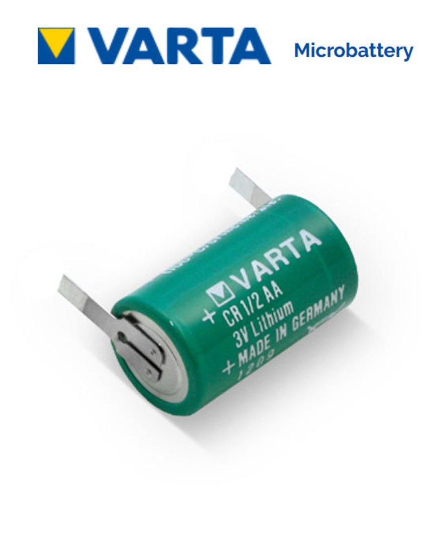 VARTA CR1/2AA Lithium Battery with Solder Tags image 0