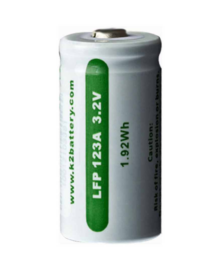 K2 ENERGY LFP123A LiFePO4 Rechargeable Battery image 0