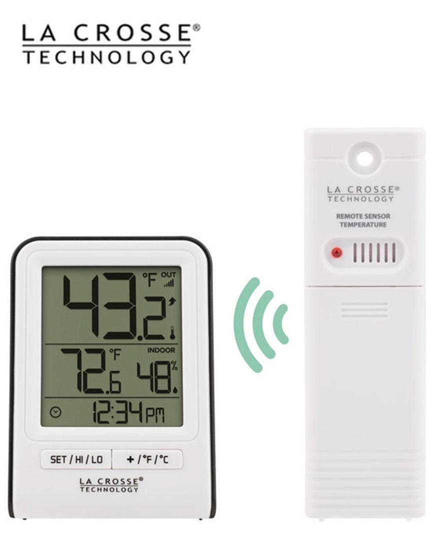 308-1409WT La Crosse Indoor Outdoor Thermometer image 1