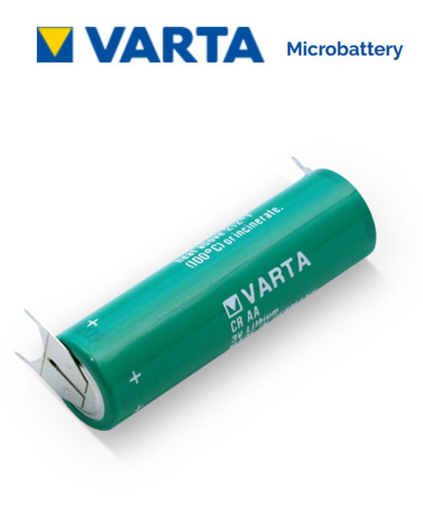 VARTA CR AA Lithium Battery with 3-Pin D+10mm image 0