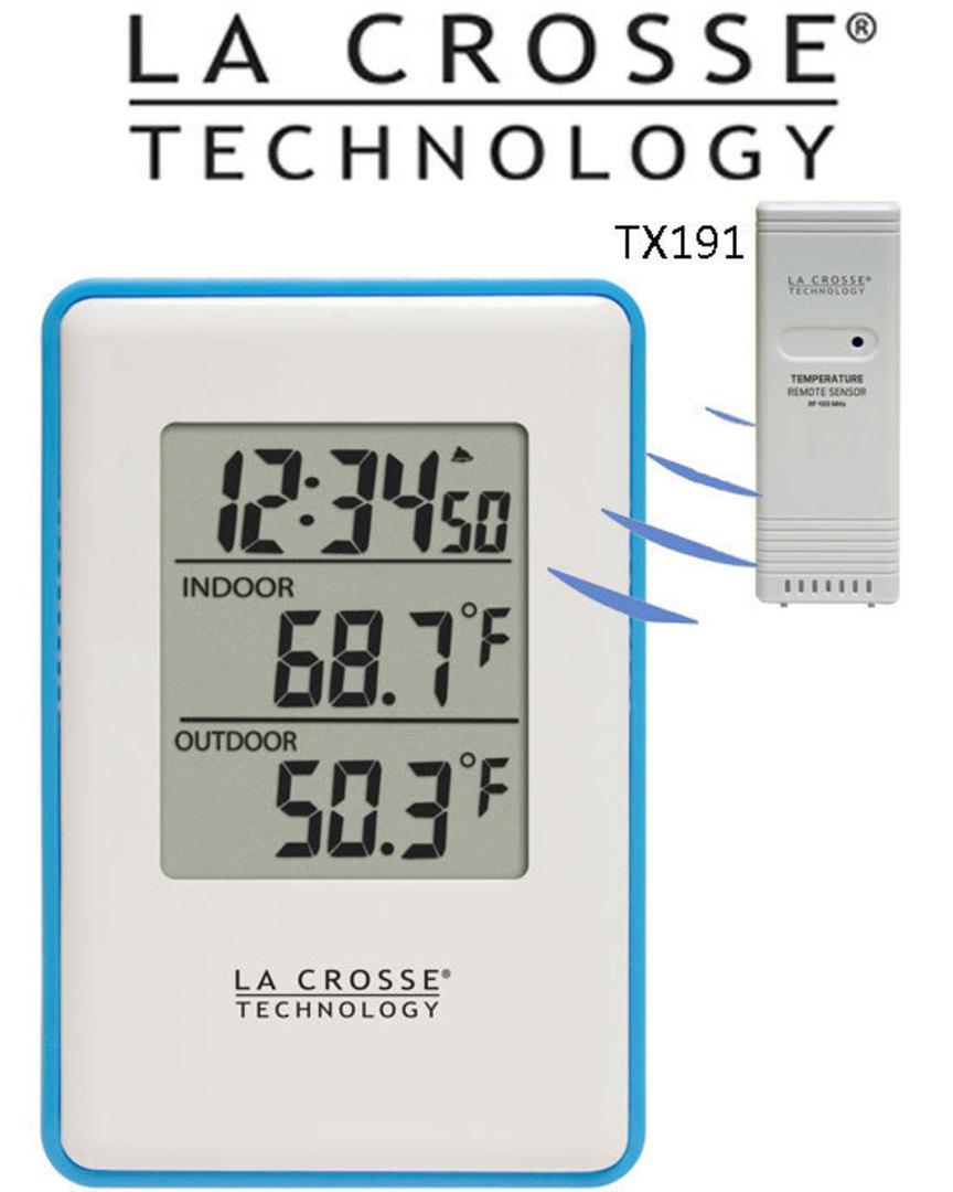 308-1910B La Crosse Indoor Outdoor Temperature Station image 0