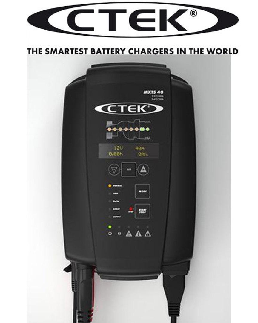 CTEK MXTS40 12V 24V Charger and Battery Support Unit image 0