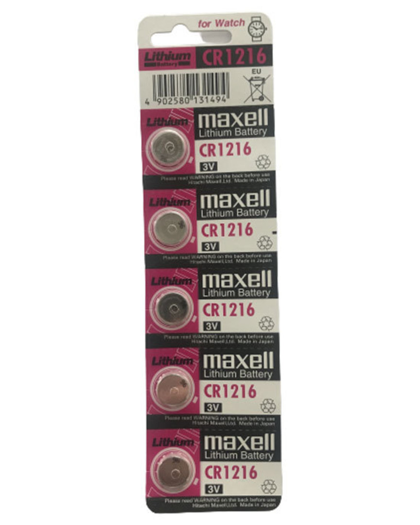 MAXELL CR1216 Lithium Battery 5PK image 0