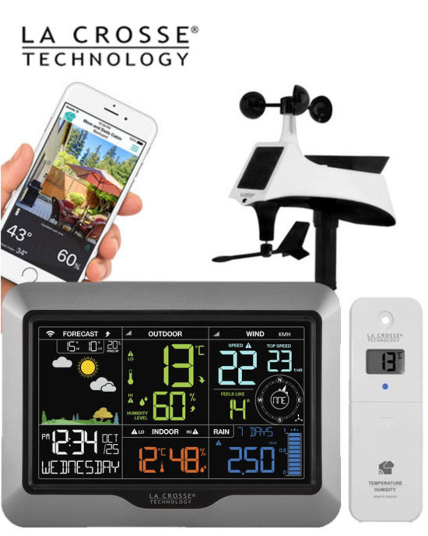V40A-PRO La Crosse WIFI Complete Colour Weather Station image 0