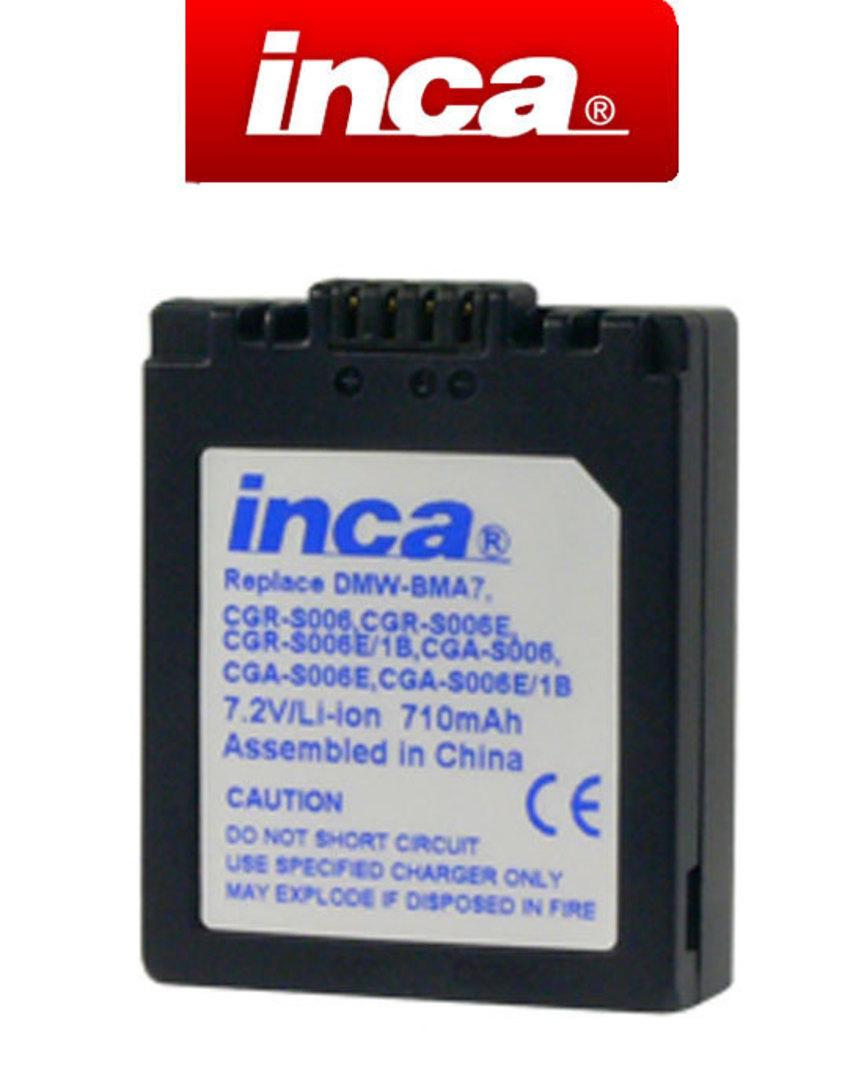 INCA PANASONIC CGA-S006E DMW-BMA7 Camera Battery image 0