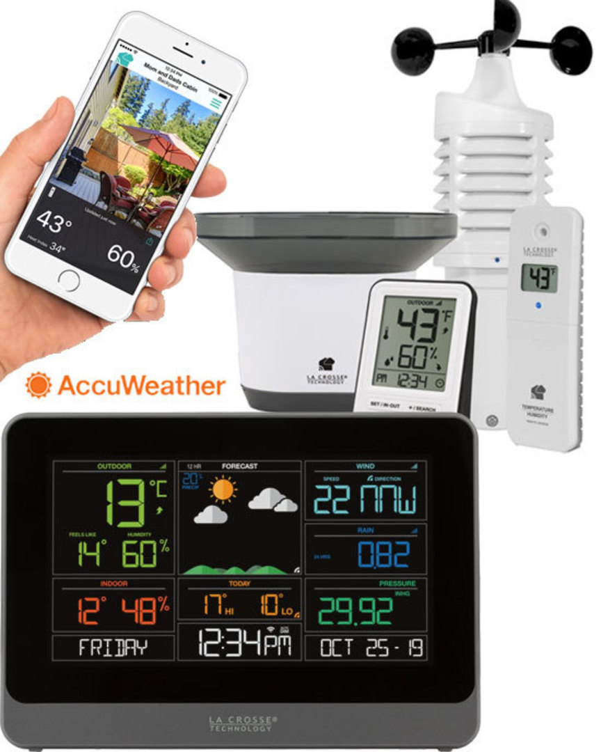 V30V2 La Crosse Personal WIFI Weather Station with AccuWeather image 2