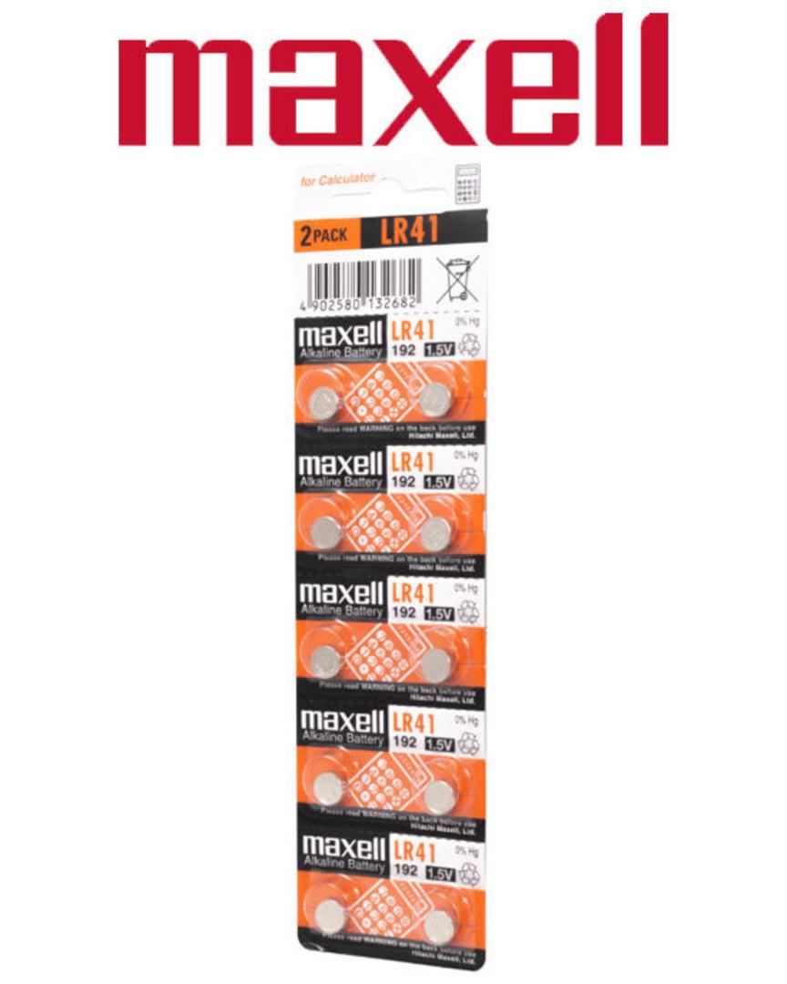 Maxell LR41 Alkaline Battery 10PK image 0