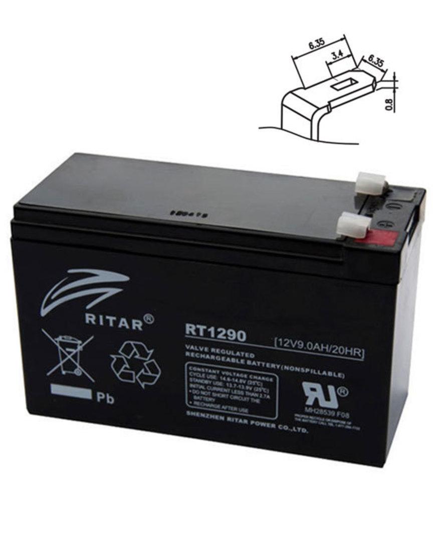 RITAR RT1290 12V 9AH SLA battery image 0