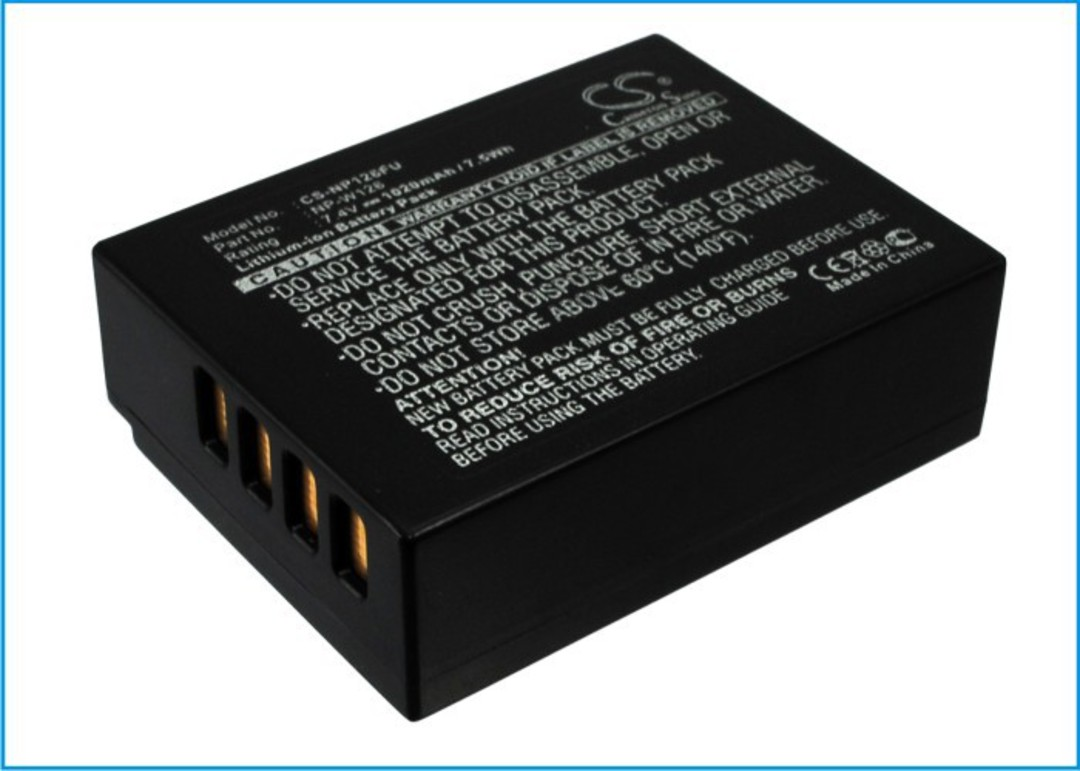 FUJIFILM NPW126 W126 NP-W126, NP-W126S Camera Battery image 0