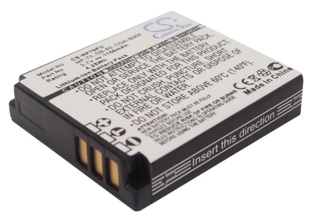 FUJIFILM NP70 PANASONIC CGA-S005 Compatible Battery image 0