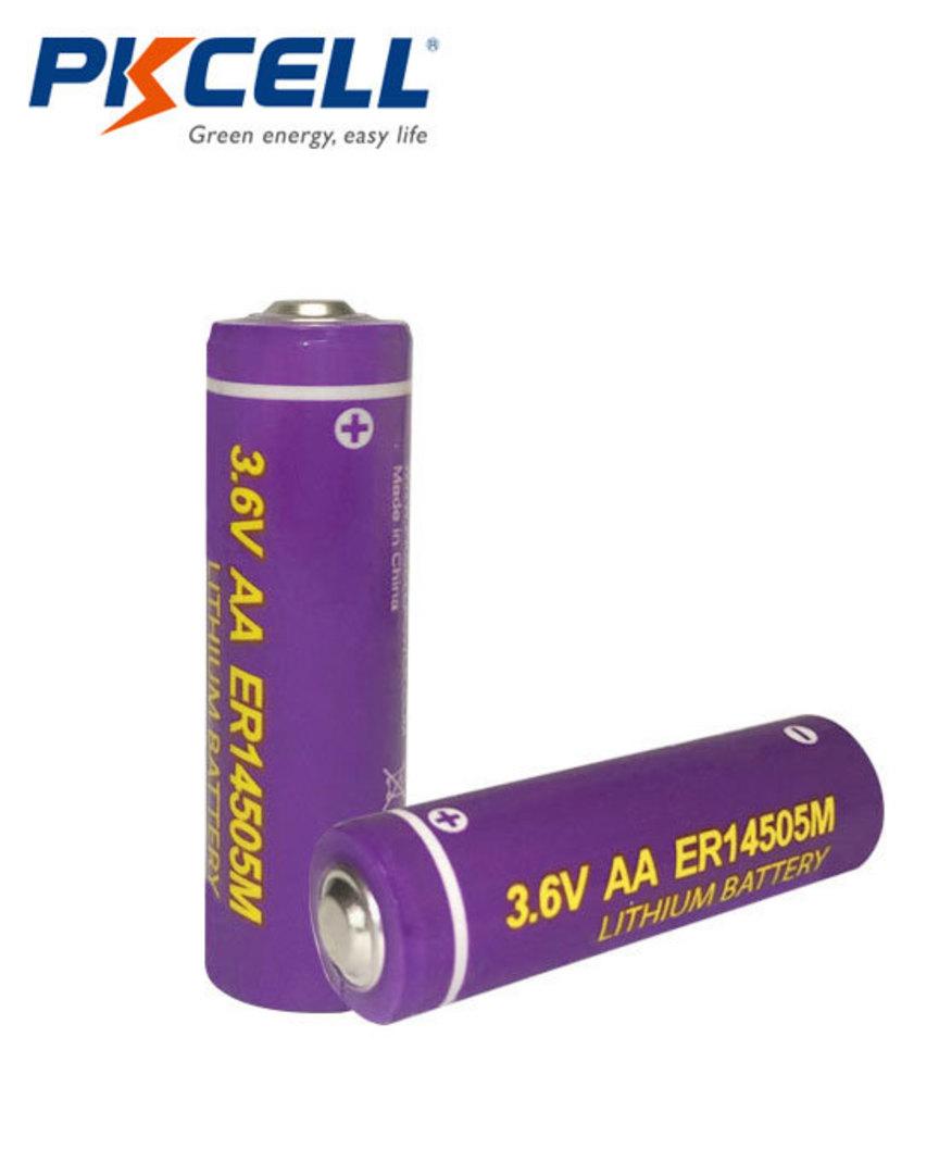 PKCELL ER14505M AA 1800mAh Hi Power Type Lithium Li-SOCI2 Battery image 0