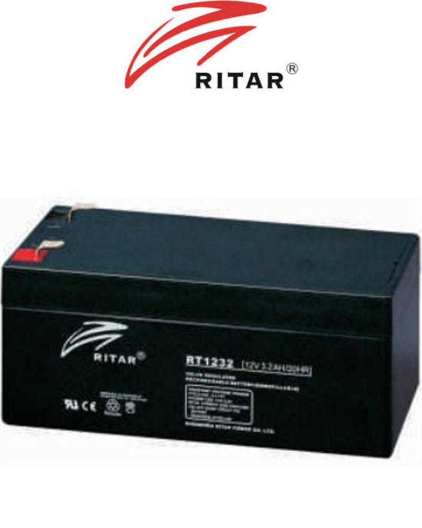 RITAR RT1232 12V 3.2AH SLA battery image 1