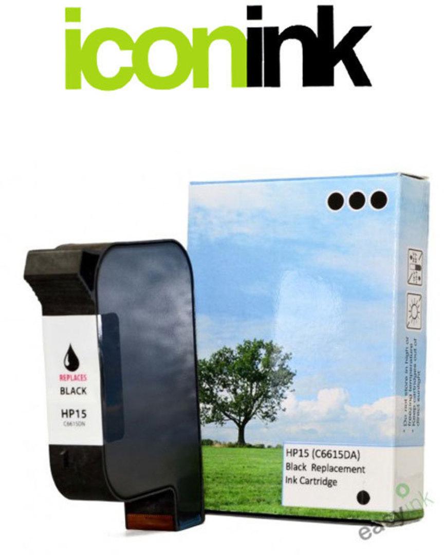Compatible HP 15 Black Ink Cartridge (C6615DA) image 0