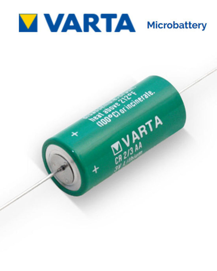 VARTA CR2/3AA Lithium Battery with Axial Lead image 0