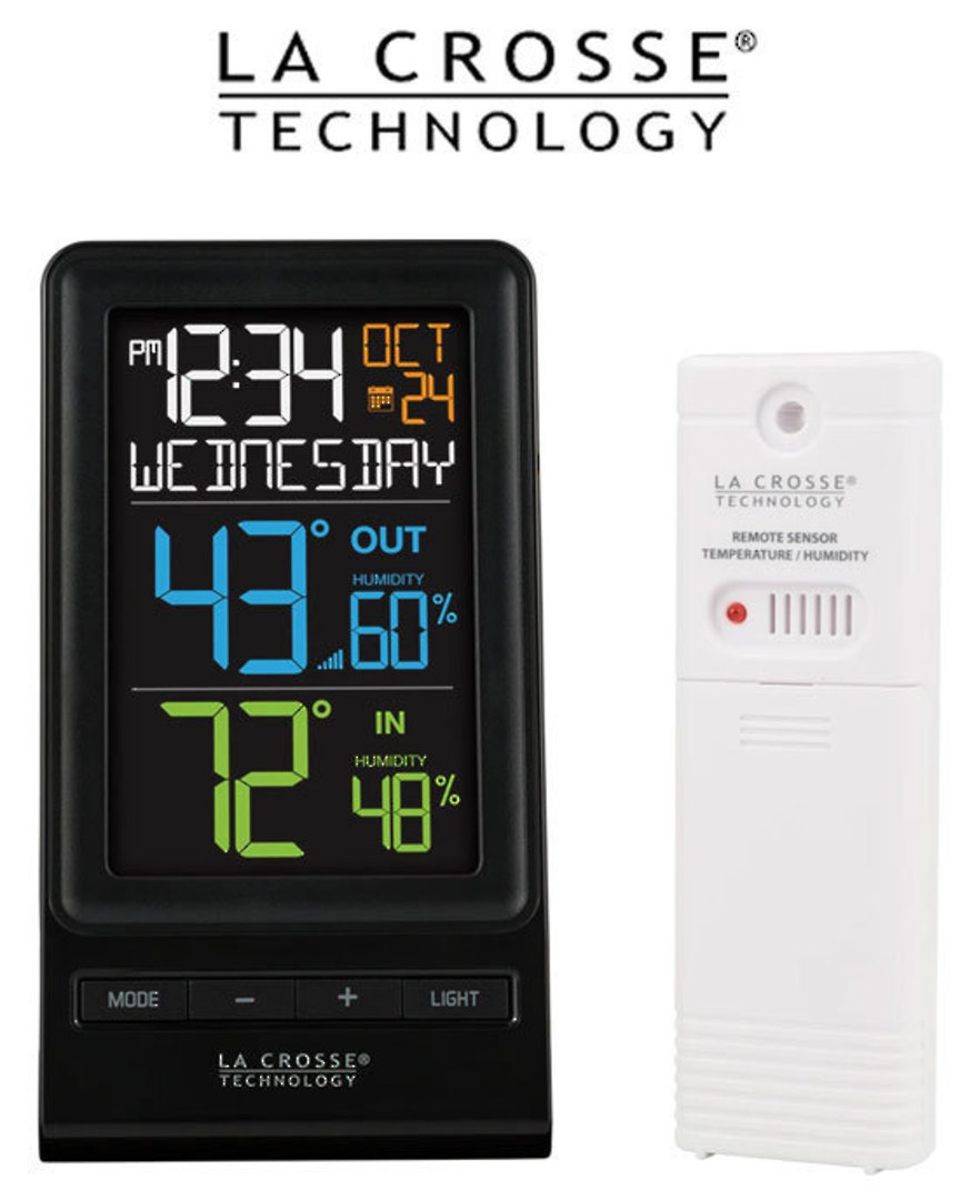 M82738V2 La Crosse Wireless Thermometer with Humidity Combo image 2