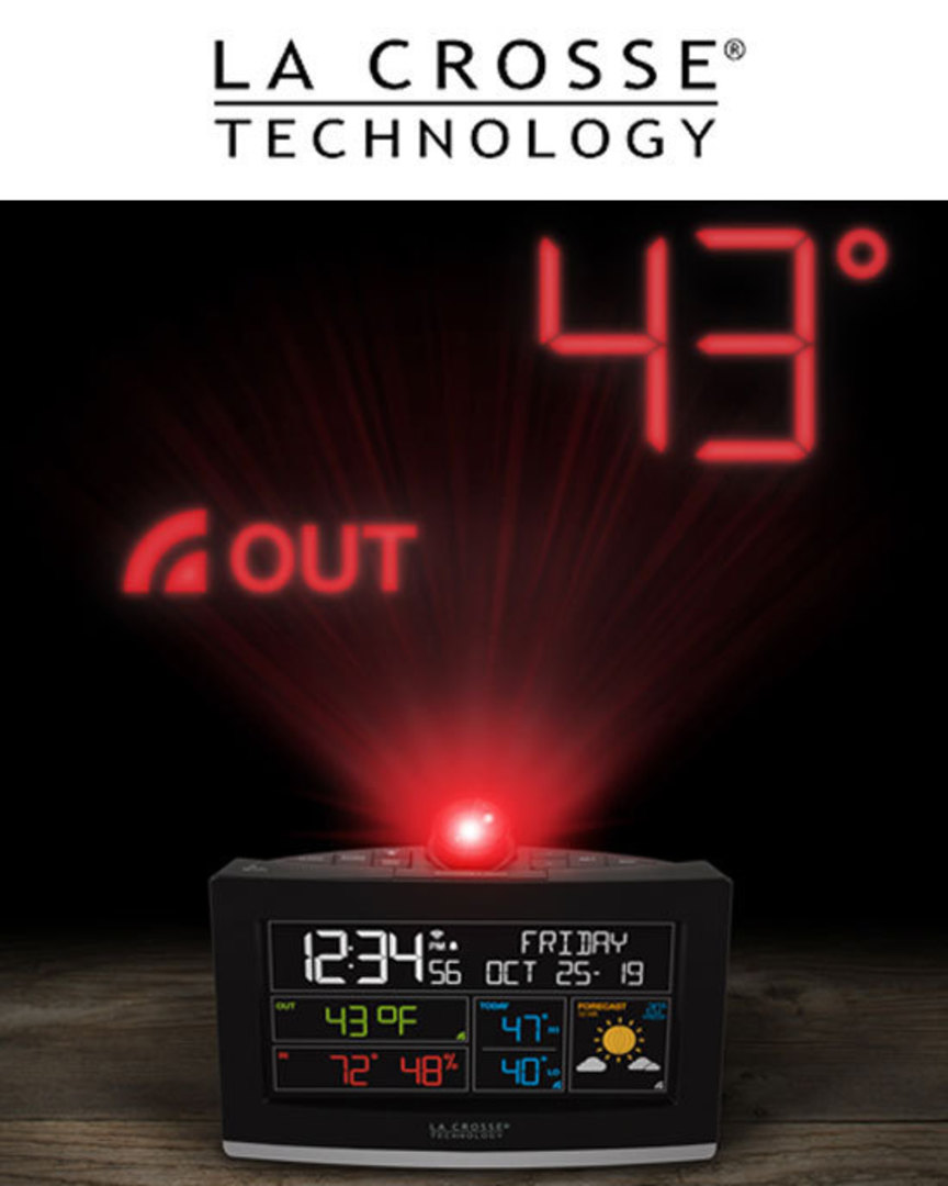 C82929 WiFi Projection Alarm Clock with AccuWeather image 1