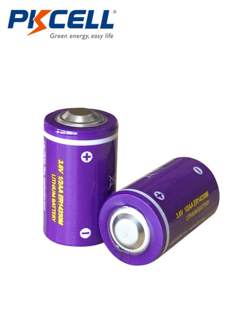 PKCELL ER14250M 1/2AA Hi Power Type Lithium Li-SOCI2 Battery image 1
