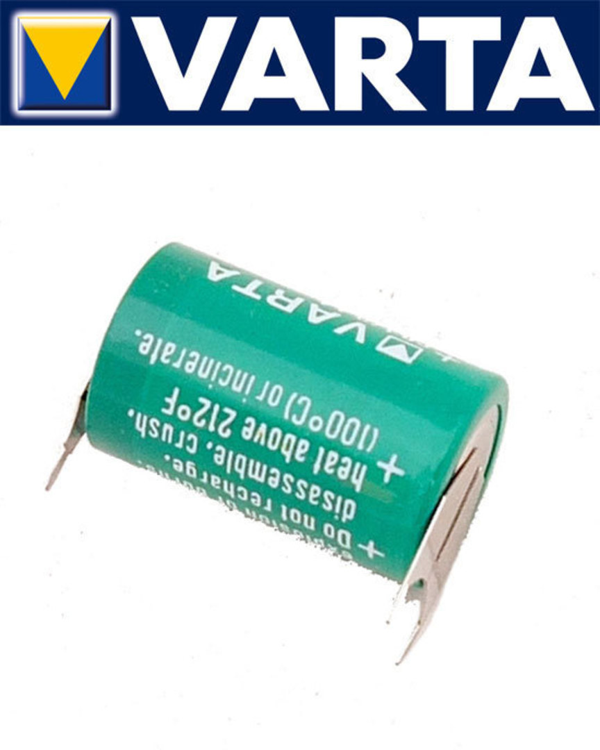 VARTA CR1/2AA Lithium Battery with 3-Pin D+7mm image 1