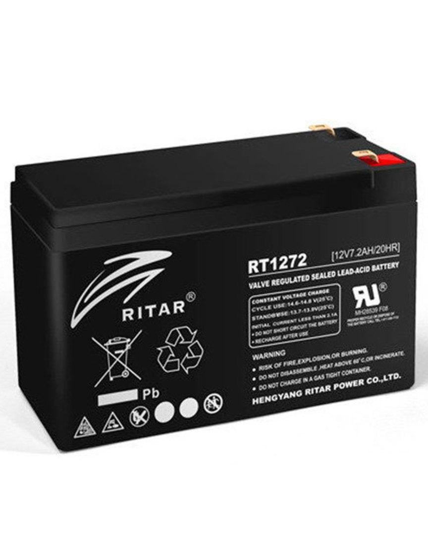 RITAR RT1272 12V 7.2AH SLA Battery 4.33mm Terminal image 0