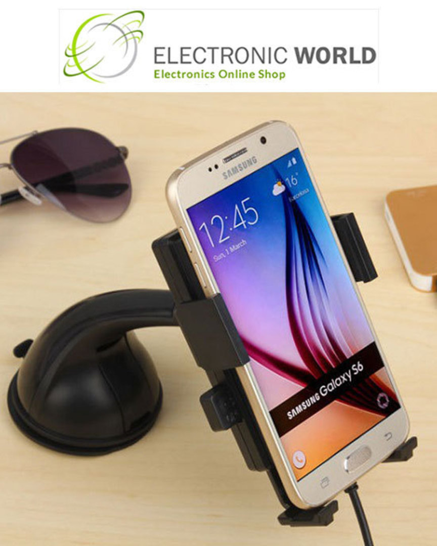Wireless Car Charger with Suction Cup image 0
