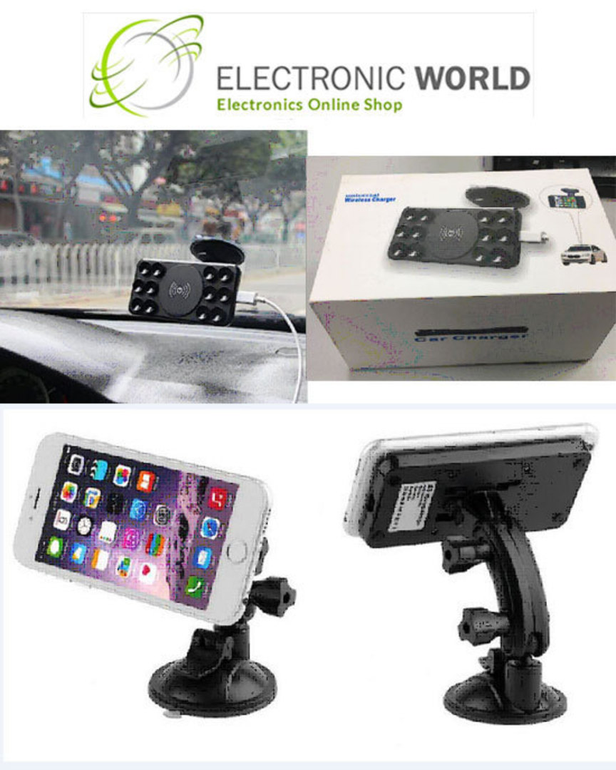 Wireless Car Charger with Suction Cup image 1