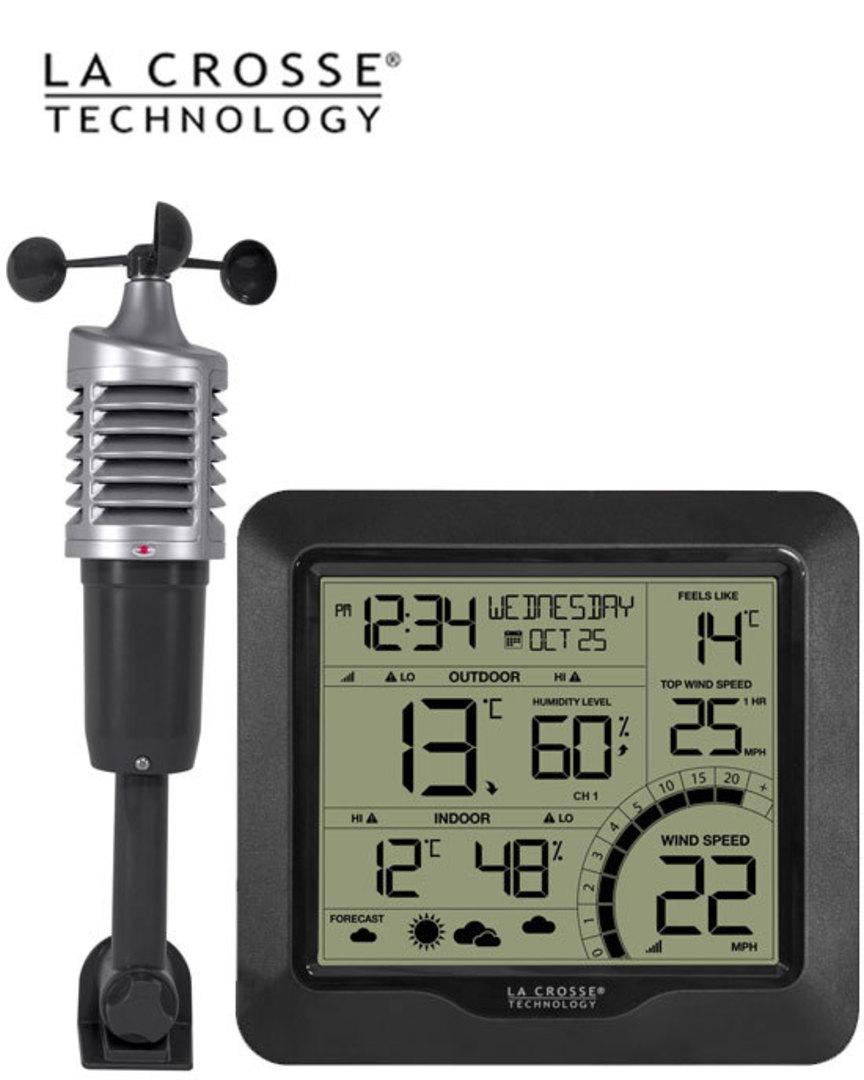 327-1417BW La Crosse Wind Speed Weather Station image 0