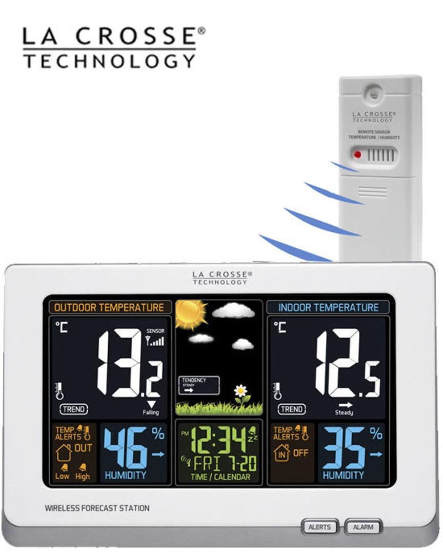 308-1414W La Crosse Wireless Colour Weather Station image 0