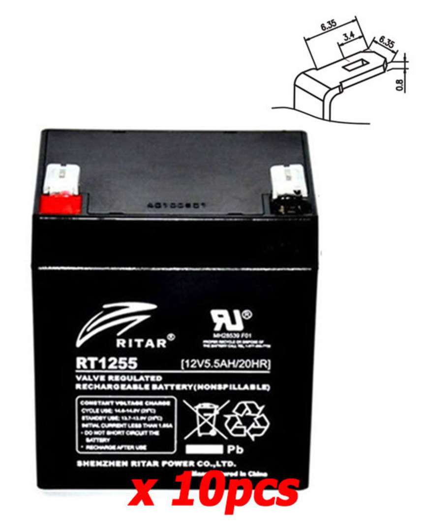 APC SYBT2 12V 5.5Ah Replacement Battery Kit image 0