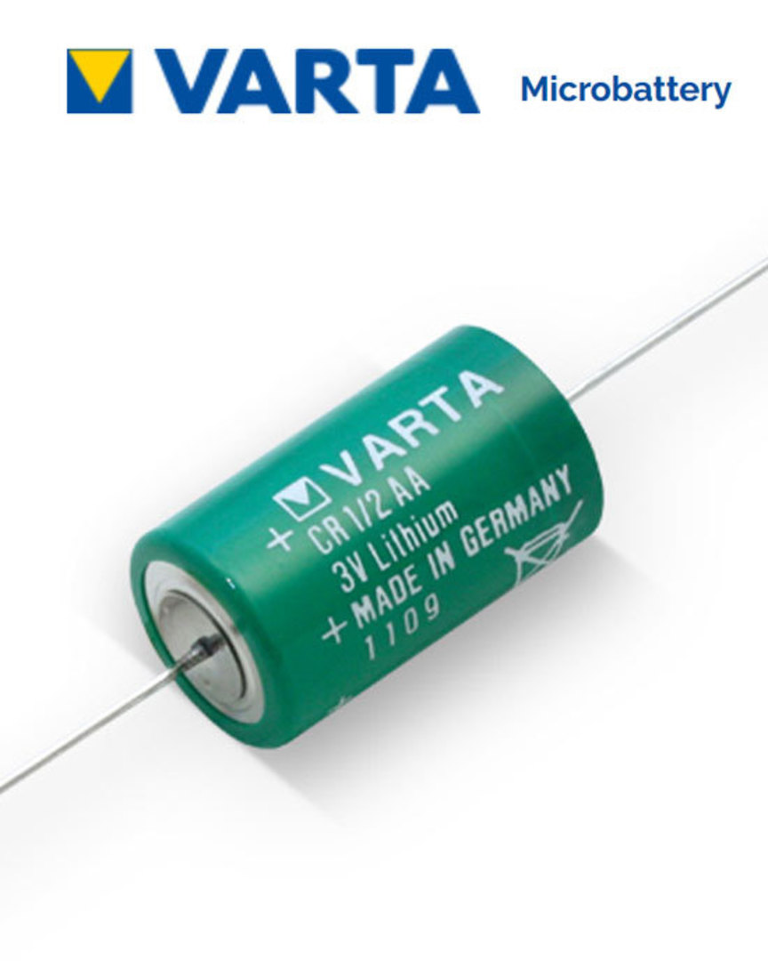 VARTA CR1/2AA Lithium Battery with Axial Lead image 0