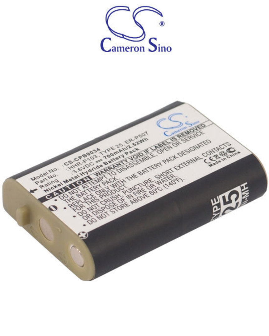 PANASONIC HHR-P103 TYPE 25 Cordless Phone Battery image 0