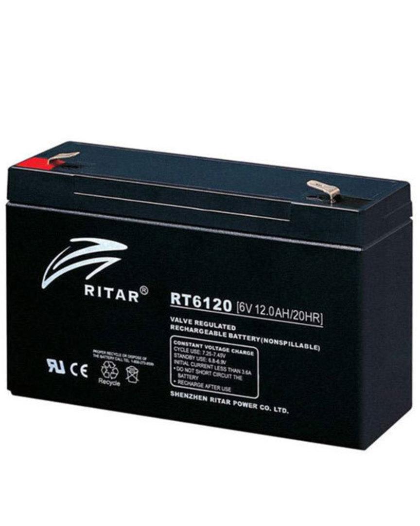 RITAR RT6120 6V 12AH SLA battery image 0