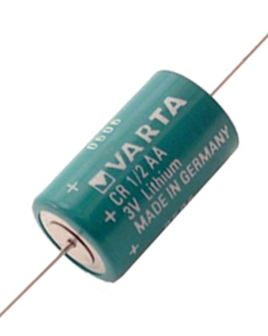 VARTA CR1/2AA Lithium Battery with Axial Lead image 1