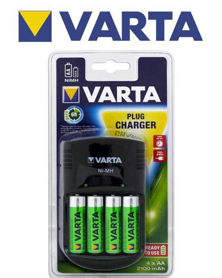 VARTA 6 Hour Plug Charger with 4 AA Included image 0