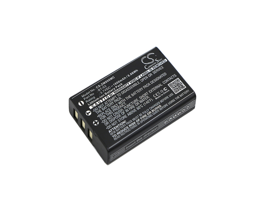 ZOOM BT-03 Q8 Recorder Compatible Battery image 0