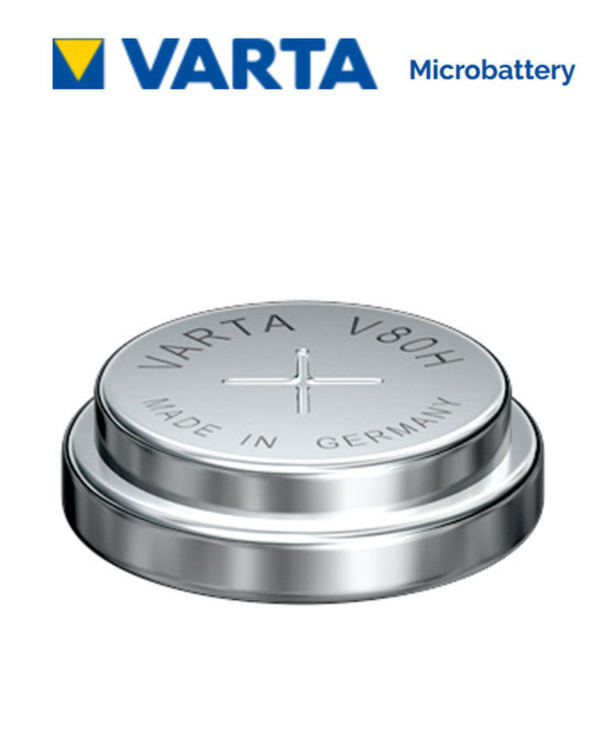 VARTA V80H 1.2V NiMH Rechargeable Button Battery image 0