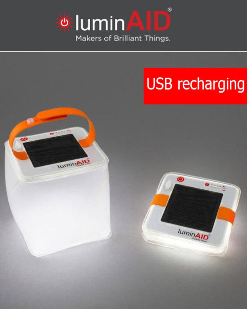 luminAID PackLite Nova USB Solar Inflatable Lantern image 0