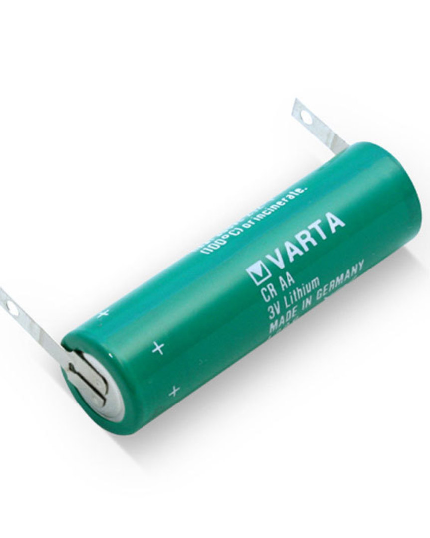 VARTA CR AA Lithium Battery with Solder Tags image 1